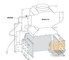 Ariston TX füstgáz retesz 995348