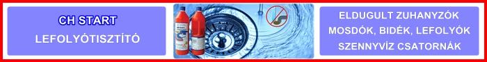 CH Start lefolyó és csatornatisztító